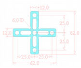 Cross Fiber Laser Jig - Small (Made from 1.5mm G10)