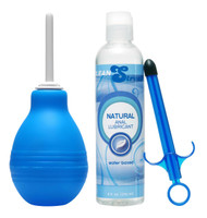 Easy Clean Enema Bulb and Lube Launcher Kit