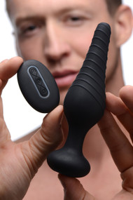 Silicone Vibrating Anal Plug With Remote Control