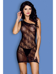 Sexy Chemise Lingerie Body Stocking With One Shoulder Design Equipped With G String