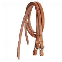 "Western Natural Leather Plain 5/8"" Wide  Split Reins By Aledo Saddlery"