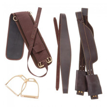 Western Brown Leather Replacement Kit for Australian Saddle By Aledo Saddlery