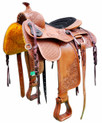 "natural pleasure trail carved 16"" saddle"