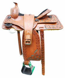 natural trail pleasure alize hand carved 16 inch saddle