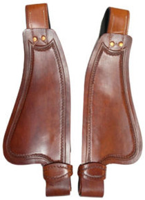Western Tan Leather Shaped Pony Fender for Western Saddle  By Aledo Saddlery