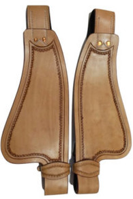 Western Natural Leather Shaped Pony Fender for Western Saddle  By Aledo Saddlery