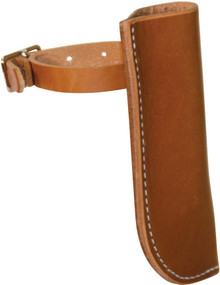 Western Natural Leather Shaped Flag Holder By Aledo Saddlery