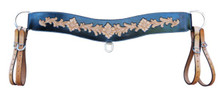 Western Two Tone Hand Carved Steering Breast Collar By Aledo Saddlery
