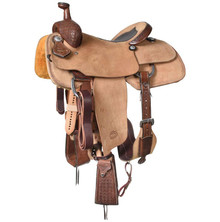 Western Brown Strip Down Leather Roper Ranch with Cinch  By Aledo Saddlery