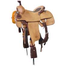 Western L Brown Strip Down Leather Roper Ranch with Cinch  By Aledo Saddlery
