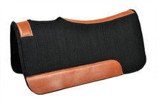 western black wool felt saddle pad