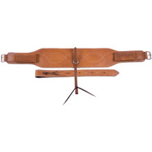 "Western Natural Leather Set of 4.0"" x 36"" Cinchs with Off Billets By Aledo Saddlery"