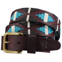 Leather Polo Belt  with Thread Design By Aledo Saddlery: P1015
