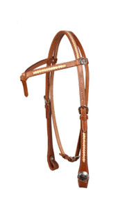 natural leather futurity rawhide braided headstall