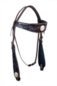 western hand carved browband headstall