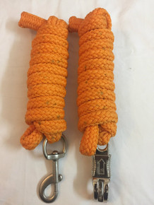 western nylon orange roping reins