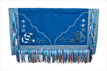 western blue barrel rodeo show saddle pad
