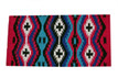 western multi colored wool horse saddle pad