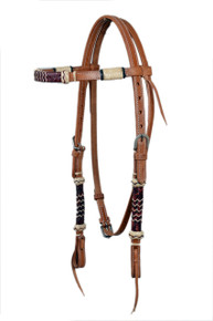western natural browband rawhide braided headstall
