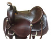 western roper ranch hand tooled saddle
