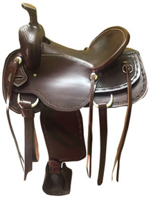 brown roper ranch hand tooled saddle