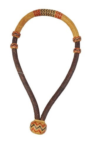 "western natural brown rawhide weaved 5/8"" bosal"