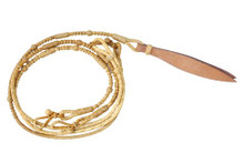 western natural rawhide braided split rommel reins