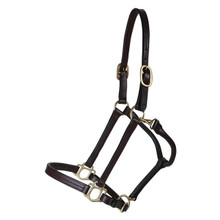 Western Brown Leather Shaped Halter By Aledo Saddlery