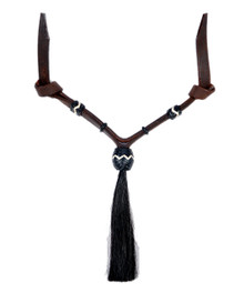 Western Dark Oil Set of Rawhide Braided with Horse Hair Tassel  By Aledo Saddlery 002