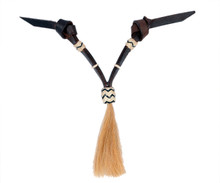 Western Dark Oil Set of Rawhide Braided with Horse Hair Tassel  By Aledo Saddlery 005