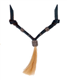 Western Dark Oil Set of Rawhide Braided with Horse Hair Tassel  By Aledo Saddlery 008