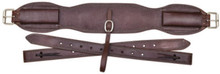 "Western Brown Leather 36"" x 5"" Wide Cinch with Off Billets By Aledo Saddlery"