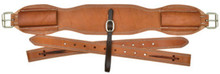 "Western Natural Leather 36"" x 5"" Wide Cinch with Off Billets By Aledo Saddlery"