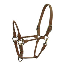 Western Softy Braided Nose and Cheeks  Halter with Lead Chain By Aledo Saddlery