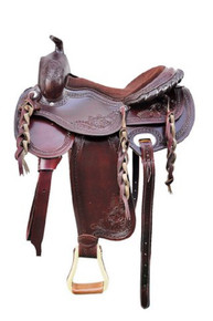 "western havana pleasure trail hand carved 17"" saddle"