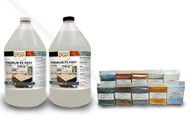 FX Metallic Powder Test Kit with FX Poxy Countertop Epoxy Resin