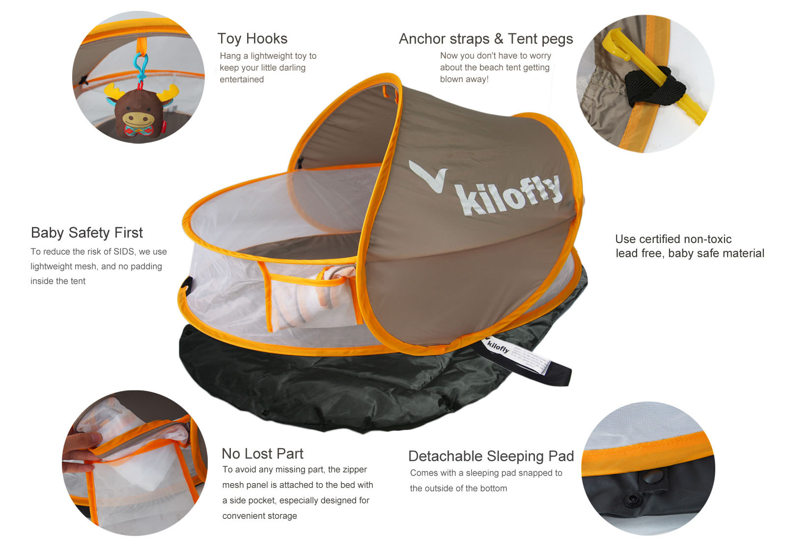 kilofly baby travel bed