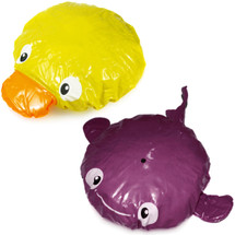kilofly Fun Shower Caps Value Pack [Set of 2], Yellow Duck & Purple Dolphin