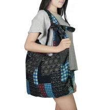 kilofly Bohemian Large Folding Cloth Crossbody Shoulder Bag