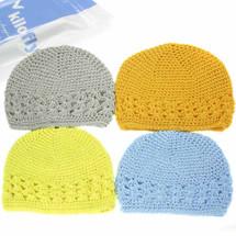 KF Baby Super Soft Crochet Beanie Hat, Set of 4