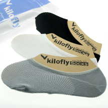 kilofly Non-Skid Silicone Patch Womens Liner Athletic Socks  [Set of 3 Pairs]