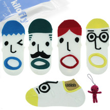 kilofly OMG Funny Face Socks Value Pack [Set of 4 Pairs], with Voodoo Doll