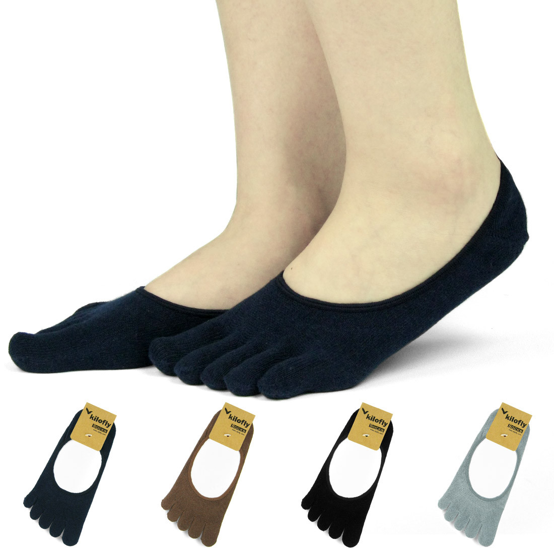 kilofly Women s Low Cut No Show Full Toe Socks Value Pack  Set of 4 Pairs.  Loading zoom d965ffa156