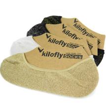kilofly Womens Low Cut No Show Full Toe Liner Socks Value Pack