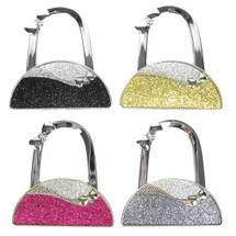 kilofly Purse Hook [Set of 4] - Foldable - Lauren, with kilofly Pouch