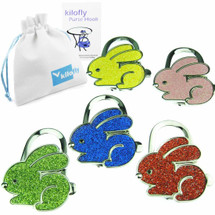 kilofly Purse Hook [Set of 5] - Foldable - Veronica, with kilofly Pouch