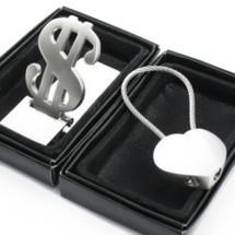 kilofly Keychain & Money Clip Set - Rainbow Sherbet