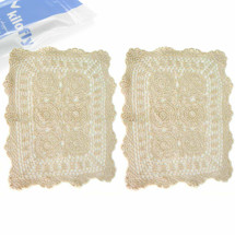 kilofly Handmade Crochet Cotton Lace Table Placemats Doilies Value Pack [Set of 2]
