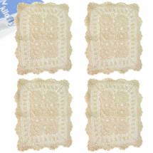 kilofly Handmade Crochet Cotton Lace Table Placemats Doilies Value Pack [Set of 4]