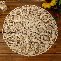 kilofly Handmade Crochet Cotton Lace Table Sofa Doily, Waterlily, 20 inch